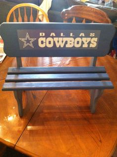 Dallas Cowboys customized child;s bench $30 + shipping