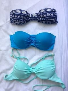 Blue bathing suit tops ♡