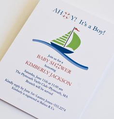 once upon a time baby shower theme | Ahoy, It's a Boy - baby shower invitation - nautical or beach theme