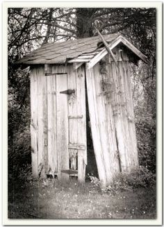 looks like the outhouse we had to use in the early sixties at my aunt's lake camp