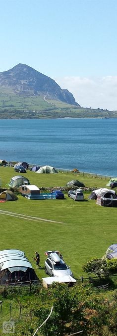 Seaside site on the Llyn Peninsula with private beach. Snowdonia and North Wales' other major attractions close by. Seaside site on the Llyn Peninsula with private beach. Snowdonia and North Wales' other major attractions close by. Camping Uk, Wales Camping, Camping Ideas, Outdoor Camping, Beach Camper, Uk Campsites, Wales Beach, Uk Beaches, Campervan Hire
