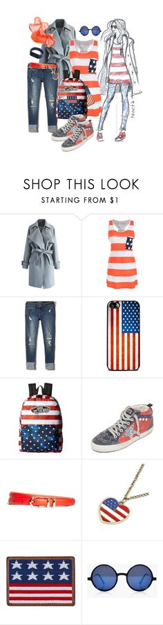 """Common girl"" by nuktanukta ❤ liked on Polyvore featuring Chicwish, Hollister Co., Vans, Golden Goose, Brooks Brothers, Draper James and Boohoo"