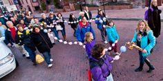 """Pro-life enthusiasts carry a Pro-Life Rosary through the streets of Annapolis as they join others in Maryland March For Life March 10. The message that """"adoption is a beautiful act of love"""" was at the heart of this year's march."""