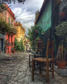 Anafiotika in Athens, Greece