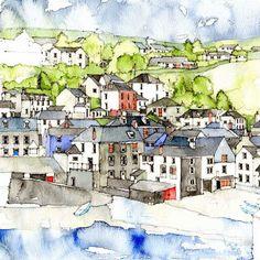 Port Isaac (detail) - Simone Ridyard, Manchester architect and artist
