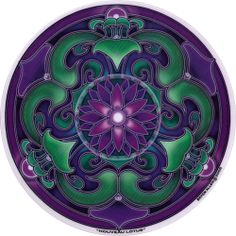 Purple highlighted with green, beautiful