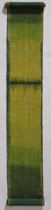 Mori Kawa ~ by Kay Sekimachi  Linen, polyester
