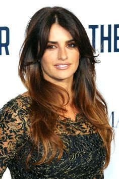 """How To Totally Rock Being A Brunette #refinery29  http://www.refinery29.com/brown-hair-shades#slide-7  Ombré Brunette""""Penelope Cruz is the perfect example of a brunette with golden skin who can wear both warm and cool-toned browns...even at the same time,"""" Aura says."""