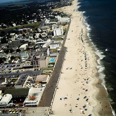 Rehoboth Beach Delaware's Beach & Boardwalk - Airview by aladdincolor
