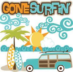 Gone Surfin' - SVG Scrapbooking files