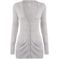 White Stuff Decadence Cardigan, Birch Grey ($78) ❤ liked on Polyvore