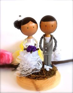 WEDDING CAKE Topper Custom Clothes Pin by CreativeButterflyXOX