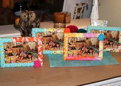 dollar tree frames wrapped in fabric