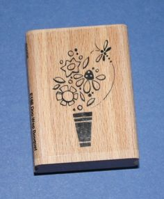 NEW Stampendous Doo-Wop Bouquet Wooden Backed Rubber Stamp. Flower Quotes, Mothers Day Crafts, Flower Power, Stamps, Bouquet, Detail, Floral, March, Ebay