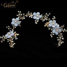 Cheap Boda dulce Bisutería para pelo flor azul del pelo de la dama de honor  headpiece nupcial Bandas para la cabeza Accesorios de pelo para el vestido  ... fd94ba7eb454