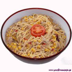 Spaghetti-Thunfisch-Salat unser Spaghetti-Thunfisch-Salat ist sehr leckerer Partysalat - schmeckt natürlich auch ohne Party :-) laktosefrei
