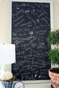 Thankful Chalkboard - I would really like to do this for the month of November.