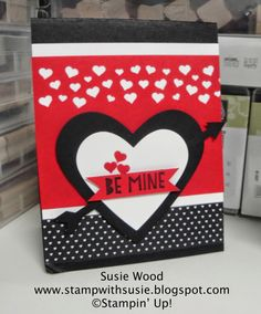 Stampin' Up!- Be mine with this Valentines....'You Plus Me' stamp set, along with the Confetti Heart Border Punch & Stacked with Love Designer Series Paper Stack!