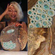 Görebilmek… #art #clay #ceramic #ceramica #keramik #handbuilding #newwork #abstractart #eyes #ceramicart #illustratedclay #illustratedceramics #glaze #deco # #seramik #camur #sanat #seramiksanati...