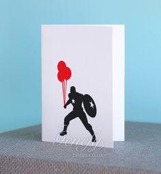 Avengers Captain America Superhero Birthday Greeting Invitation Cards https://www.etsy.com/shop/genefyprints
