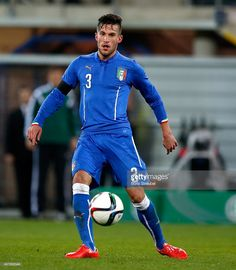 Cristiano Biraghi of Italy runs with the ball during the U21 International friendly match between...