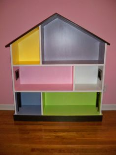 Homemade Dollhouse Bookcase - More Than a Little                                                                                                                                                                                 More