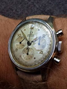 Beautiful Vintage OMEGA Chronograph In Stainless Steel Calibre 27CHRO
