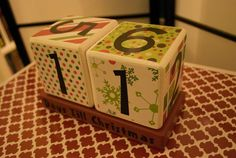 Wooden blocks Christmas Countdown