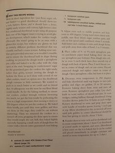 Traditional Shortbread Recipe, Best Gluten Free Cookies, Shortbread Recipes, Food Words, Recipe Using