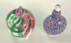 Murano Glass - colorful perfume bottle - millefiori perfume bottle