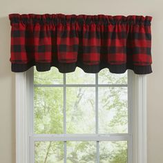 Wicklow Red and Black Buffalo Check Layered Valance – Lange General Store