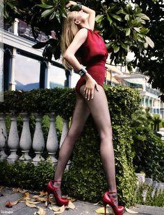 Vogue Mexico (September 2011) Sheer black pantyhose.