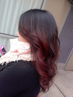 Subtle red ombre!