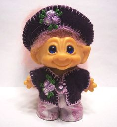 """TROLL DOLL CLOTHES CROCHET OUTFIT for 2 1/2"""" or 2 3/4"""" DAM #20"""