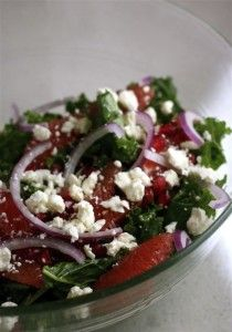 Grapefruit, Kale, and Feta Salad