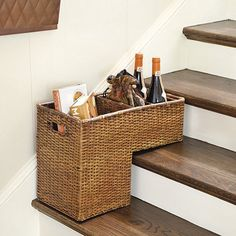 A step basket may be a utilitarian gift for a new homeowner or the organization-obsessed gal, but it's endlessly helpful in corralling clutter.