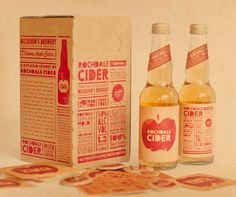 Rochdale Cider: gorgeous packaging! Dont love the colours but love the idea.