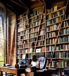 Yes please! Love the height, the contrast and the angles.  Any space that screams Library, Rest AND Work deserves a pin!