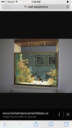 Zou ook een super gaaf idee zijn voor als terrarium of zoetwater aquarium! Normaal hou ik helemaal niet zo van zoutwater Aquariums maar deze understocked vind ik heel erg mooi