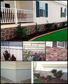 agreeable skirting ideas for mobile homes. Mobile home skirting Chintomby Comeno amazing what adding brick up to  the windows can do transform feel a regular house Landscaped entire length of for beautiful mobile