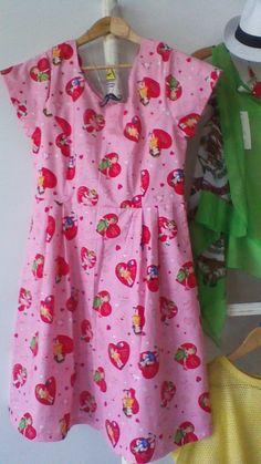 Audrey dress in Baby Gurl fabric. Vintage Patterns, The Originals, Fabric, Baby, Dresses, Women, Tejido, Vestidos, Tela