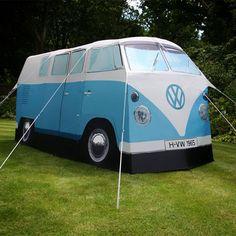 """VW CamperTent - Vier-Personen-Zelt in 1:1 VW T1 Campervan """"Bully"""" Design"""