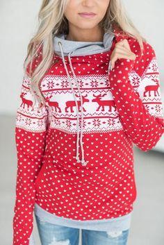 Fashion Xmas Casual Cotton Women Ladies Christmas Hoodie Sweatshirt Jumper Hooded Pullover New Hot Tops Reindeer Games, Fall Fashion Trends, Autumn Fashion, Fashion Ideas, Fashion Inspiration, Hooded Sweatshirts, Hoodies, Christmas Sweaters, Christmas Hoodie