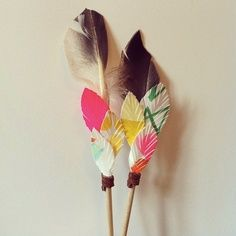 colourful feathers. decor, warrior. tribal