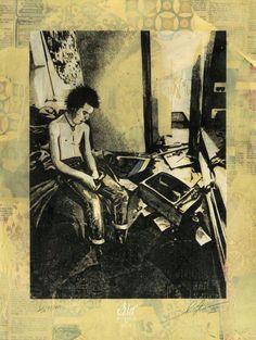 SHEPARD FAIREY  Sid Smashed Hotel Room -2013  Sérigraphie, collage et peinture sur papier Oeuvre encadrée dans l'atelier de Shepard Fairey. HPM Dim. : 37 cm x 50 cm (hors cadre) Signé et Numérotée 2/10  www.streetartgalerie.com