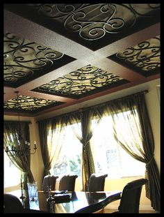 Faux Wrought Iron Custom Ornamental Ceiling Inserts. | Flickr - Photo Sharing!