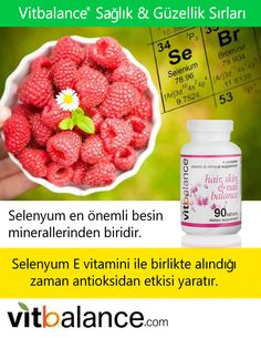 Did you know that Selenium is one of many important dietary minerals? Selenium works as an antioxidant, especially when combined with vitamin E. Grow Hair, Vitamin E, Raspberry, Fruit, Healthy, Minerals, Foods, Beautiful, Products