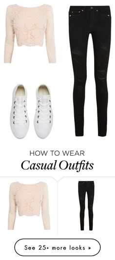 """Casual"" by jenna19monzela on Polyvore featuring Coast, Yves Saint Laurent and Converse"