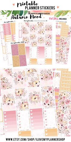 This is a printable planner weekly kit for The Happy Planner Classic. A planner sticker kit that includes free silhouette cut files to decorate your planner! Use this code: PIN10 for 10% off.
