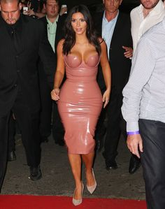 Yes, North West, Your Mom Is Wearing a Skintight Latex Dress. No, We're Not Sure How She's Able to Breathe.
